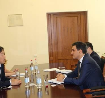 Ombudsman received the Ambassador of Japan to Armenia Eiji Taguchi