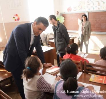 Պաշտպանի այցի արդյունքում 6 երեխա հատուկ դպրոցից տեղափոխվել է ներառական դպրոց. իրականացվել է կրկնայց Երևանի թիվ 2 հատուկ դպրոց