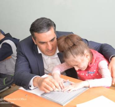 We should teach our children skills for independent living and value their dignity', Arman Tatoyan made an unannounced visit