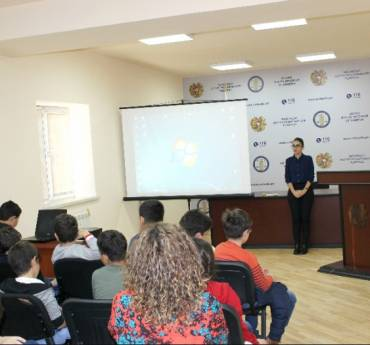 """Pupils of """"Ayb"""" School visited the Human Rights Defender's Office"""