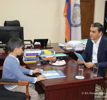 """""""We attach importance to the right of a child to be heard"""". On Universal Children's Day the Defender met Vahagn (video)"""