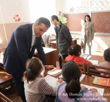 As a result of the Defender's visit, six children were transferred from a special school to an inclusive one: a follow up visit was conducted to the Yerevan Special School N2