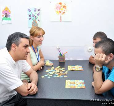"""The Defender Visited """"Prkutyun"""" Center for Disabled Children and Youth"""